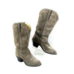 Durango Cowboy Boots Suede USA Made Western